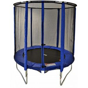 Cortez Blue 6ft Trampoline with Enclosure - Trampolines - Garden & Sports