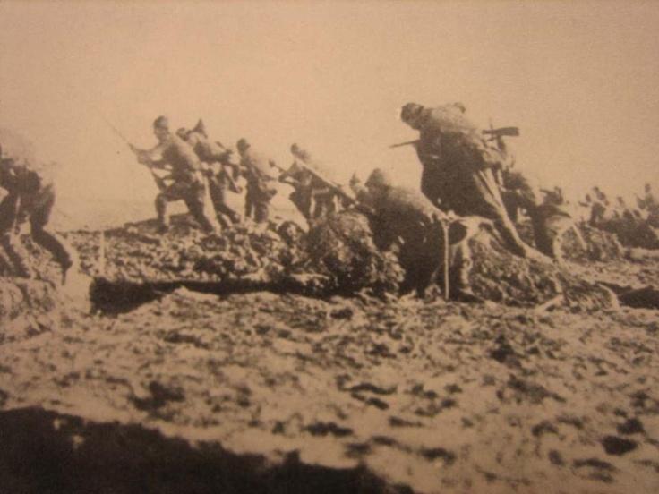 Ottoman Empire soldiers defending Palestine in World War 1