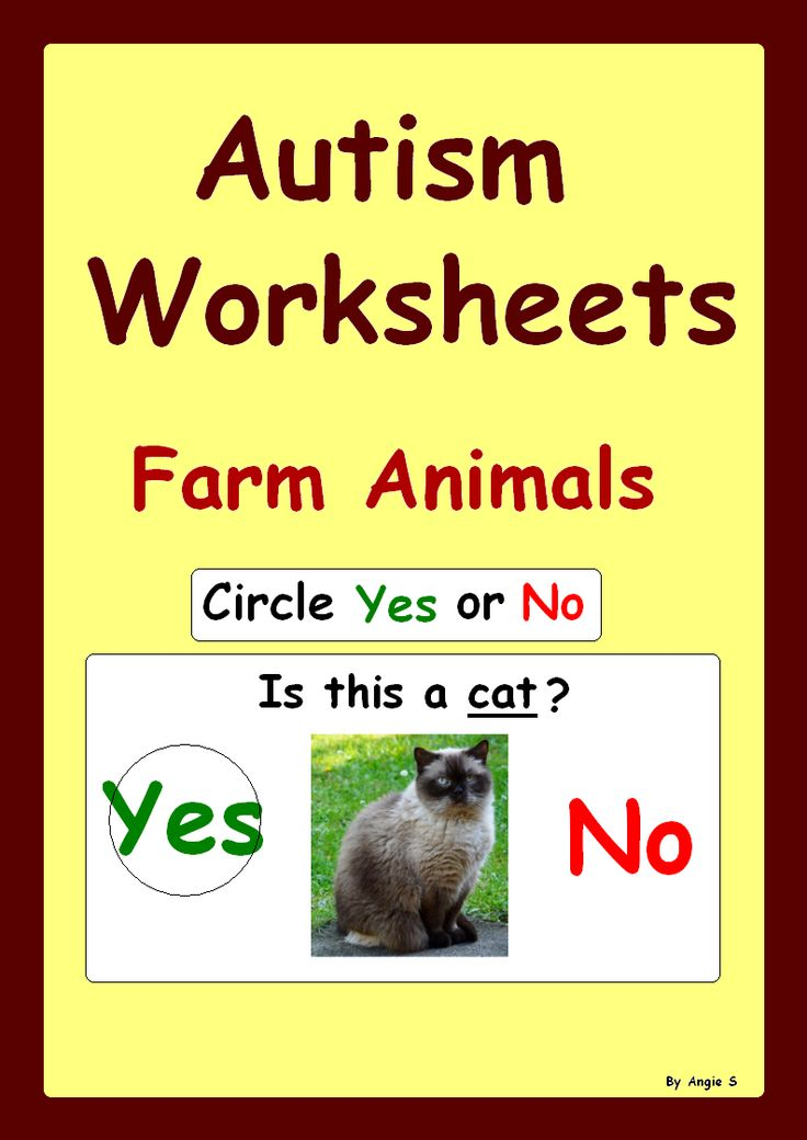 Yes/ No Questions- #Autism Worksheets- Farm Animals. For more resources follow https://www.pinterest.com/angelajuvic/autism-special-education-resources-angie-s-tpt-sto/