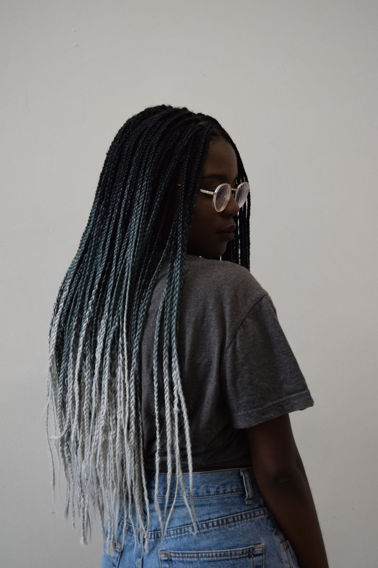 Sc: @ digital-shawty • ombre box braids • | pinterest: @xxiFalone                                                                                                                                                                                 More