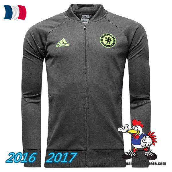 Les Nouveaux Veste Foot FC Chelsea Gris 2016/2017 Pas Cher