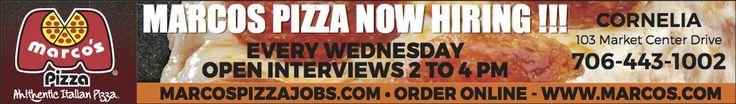 Marcos Pizza Now Hiring!!!, Cornelia Georgia | Marco's Pizza - Cornelia, GA #georgia #CorneliaGA #shoplocal #localGA