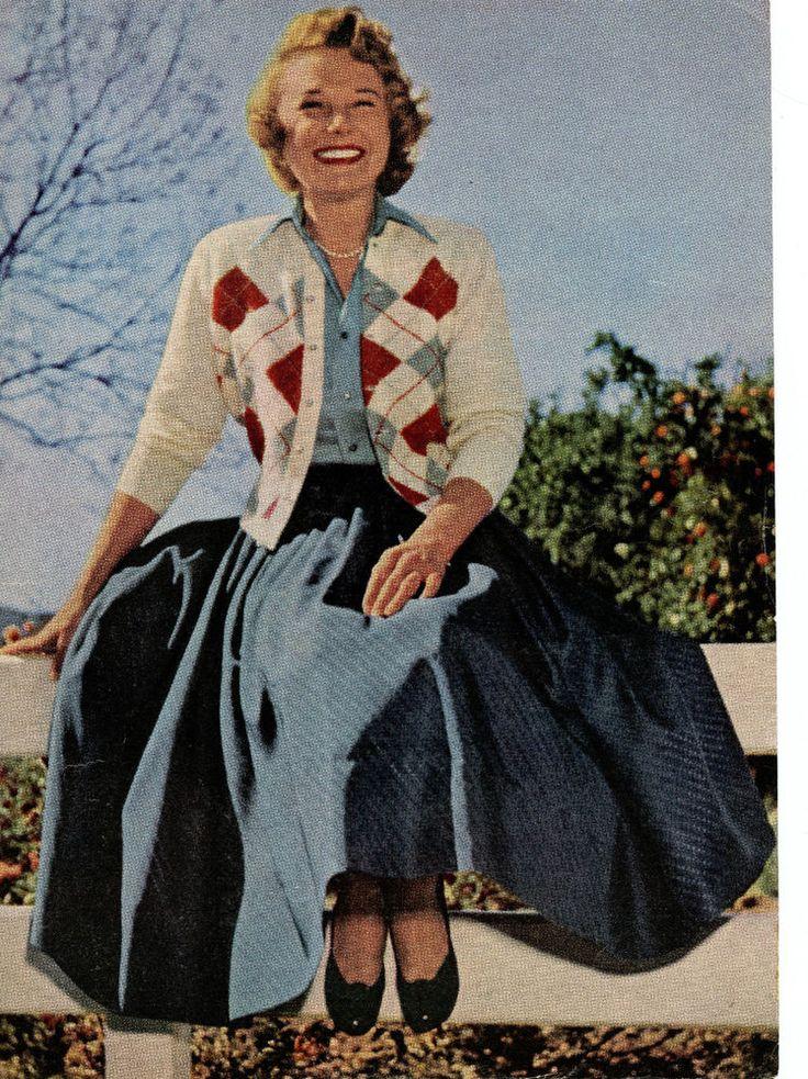 June Allyson clipping original magazine photo 1pg 8x10 R6185
