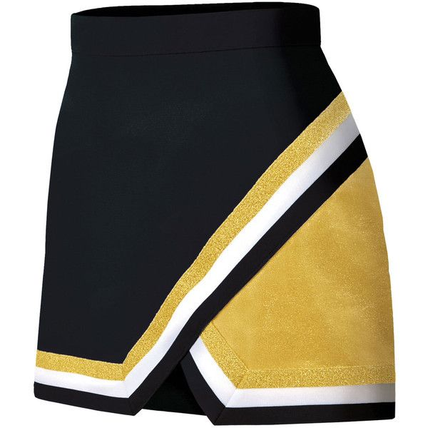 Chassé Metallic Edge Panel Skirt ($22) ❤ liked on Polyvore featuring skirts, cheer, cheerleading, sport, sport skirt, metallic skirts, chassè, sports skirts and panel skirt