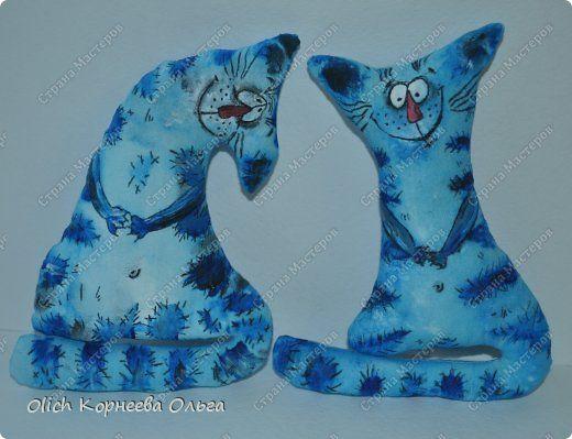 Игрушка Мастер-класс Рисование и живопись Шитьё Разукрашиваем текстильного кота Краска Ткань фото 16