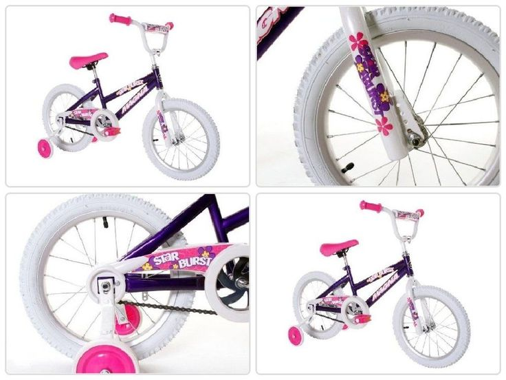Girls Bike 16 Inch With Training Wheels BMX Steel Frame One Speed Ride On New #psdiscount