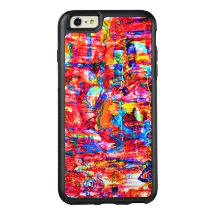Cute multi colors abstract waves painting OtterBox iPhone 6/6s plus case - chic design idea diy elegant beautiful stylish modern exclusive trendy