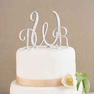 Create an impression with a wedding cake topper that signifies the joining of your names – and your lives.