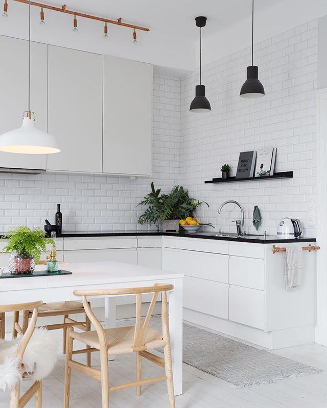 This kitchen!  chairs from Hans J Wegner.  for @eklundstockholmnewyork