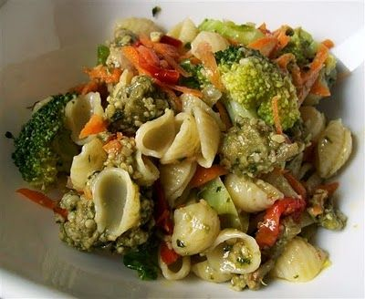 Quirky Cooking: Chicken Pesto Pasta Salad