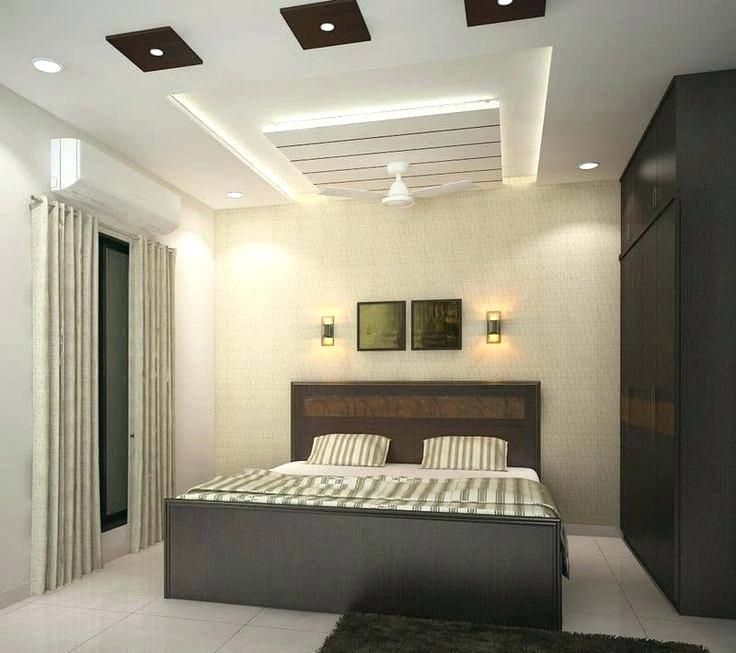 Modern Interior Decoration Living Rooms Ceiling Designs: Fall Ceiling Design For Bedroom Contemporary False Ceiling