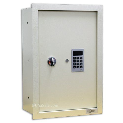 The WES2113-DF Fire Resistant Electronic Wall Safe is an excellent choice for home or office use. Quick and convenient access, easy programing and can be installed at any height on interior wall. It's very easy to install between 2 wall studs. It comes with a Fire-Liner velvet interior for a great plush look and feel. The Fire-Liner will give a 30 minute fire protection for paper stores inside the safe. The 2 shelves are removable for convenience. The keypad is flush with the g