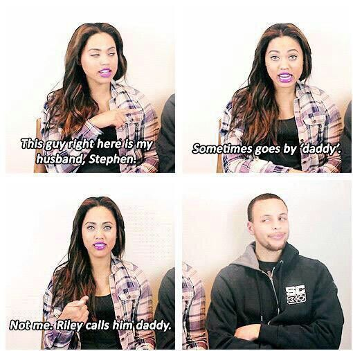 I laughed wayy to hard. Stephan Curry & Wife