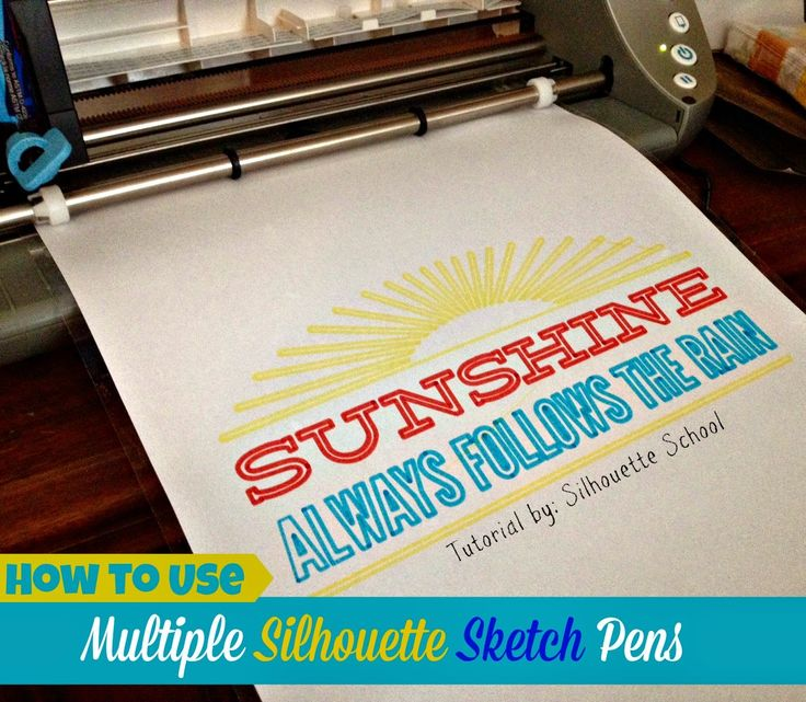 How to Use Multiple Sketch Pens with Silhouette