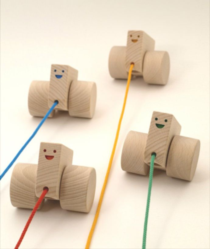 Handmade Pull-Along Toy Cars for Kids