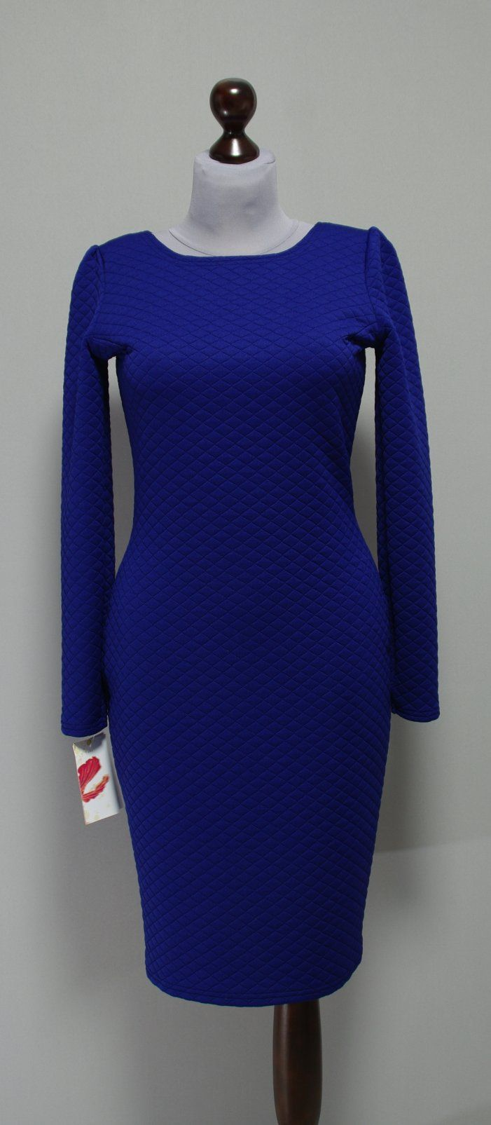 очень теплое синее платье цвета электрик Украина, Платье-терапия
