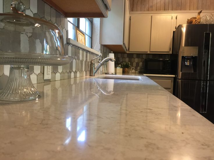 Modern Backsplash Lusso Quartz Countertops By Silestone With Large Single