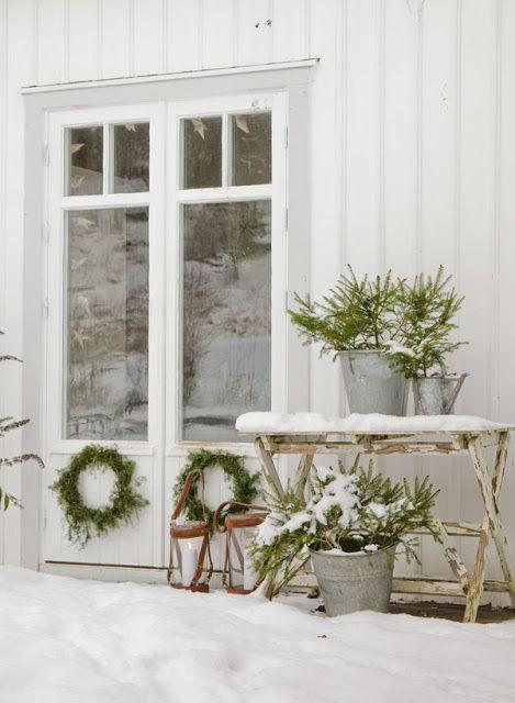 beautiful winter entrance