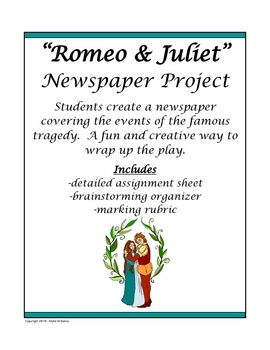 best romeo images romeo and juliet teaching  romeo and juliet newspaper