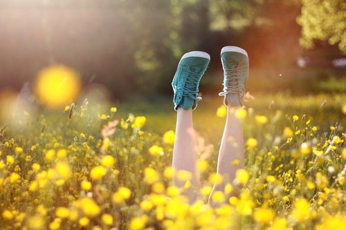 Field of Wildflowers: Home is a place to put my feet up