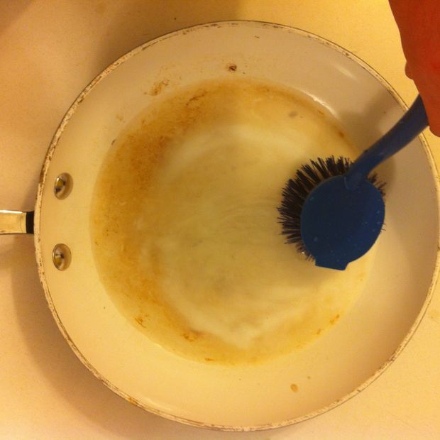 Cleaning Stained Ceramic Coated Frying Pans Kitchen Pans