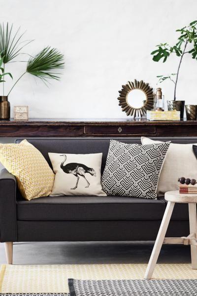 Poszewka na poduszkę : Bawełniana poszewka na poduszkę z nadrukowanym motywem. Kryty suwak.