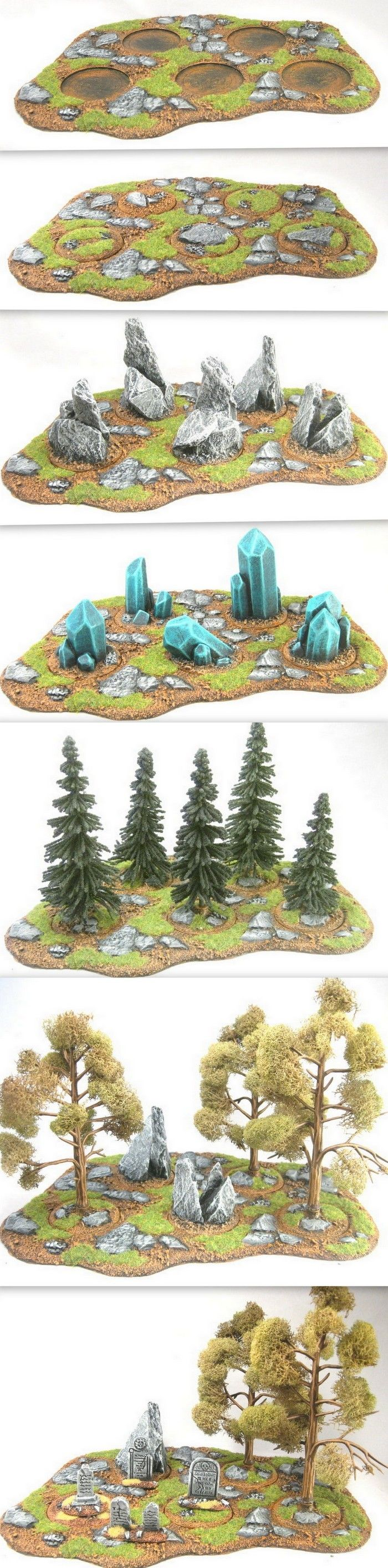 The same area terrain base can create many different types of terrain.