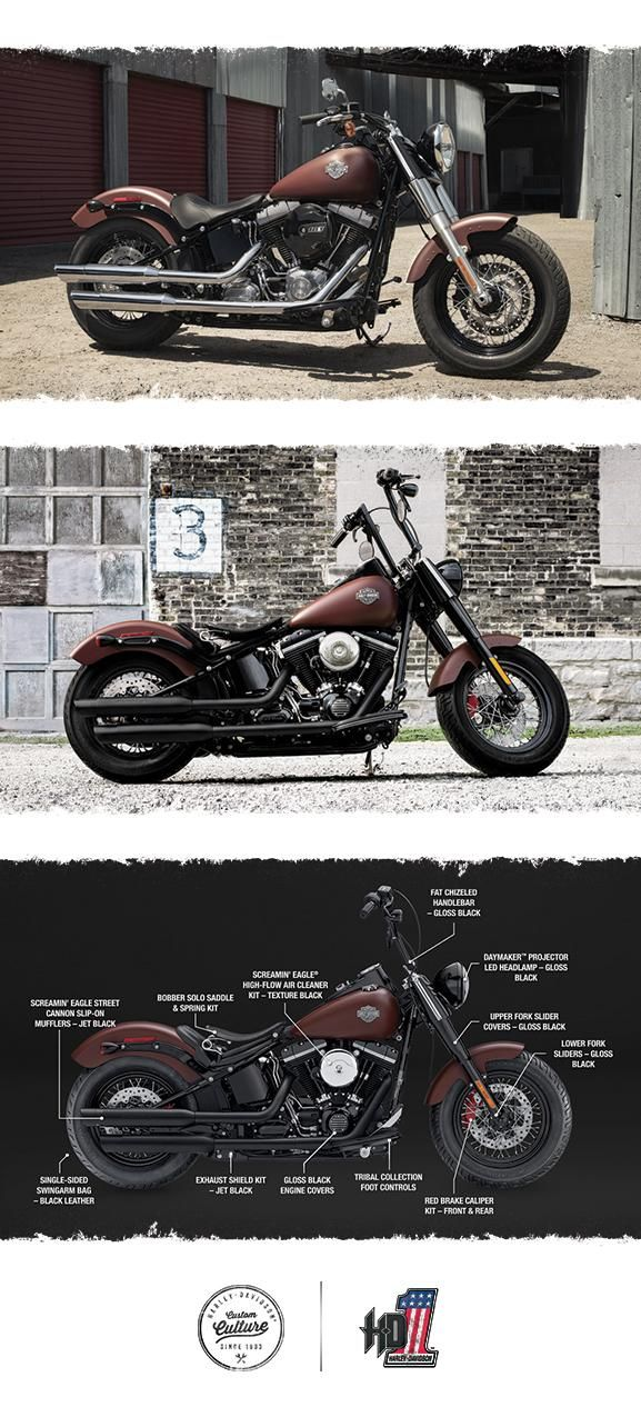 The perfect blend of classic, raw bobber style and the power of a High Output Twin Cam 103B engine.   2017 Harley-Davidson Softail Slim