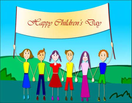 happy childrens day wishes card