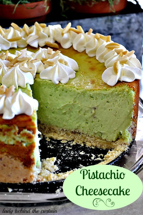 Pistachio Cheesecake - Lady Behind the Curtain