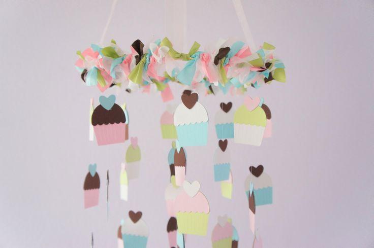 I Lovethis Cupcake+Nursery+Mobile+Nursery+Decor+by+LoveBugLullabies+on+Etsy,+$63.00