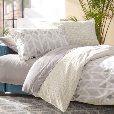 Mercury Row Iris Yellow Reversible Comforter Set