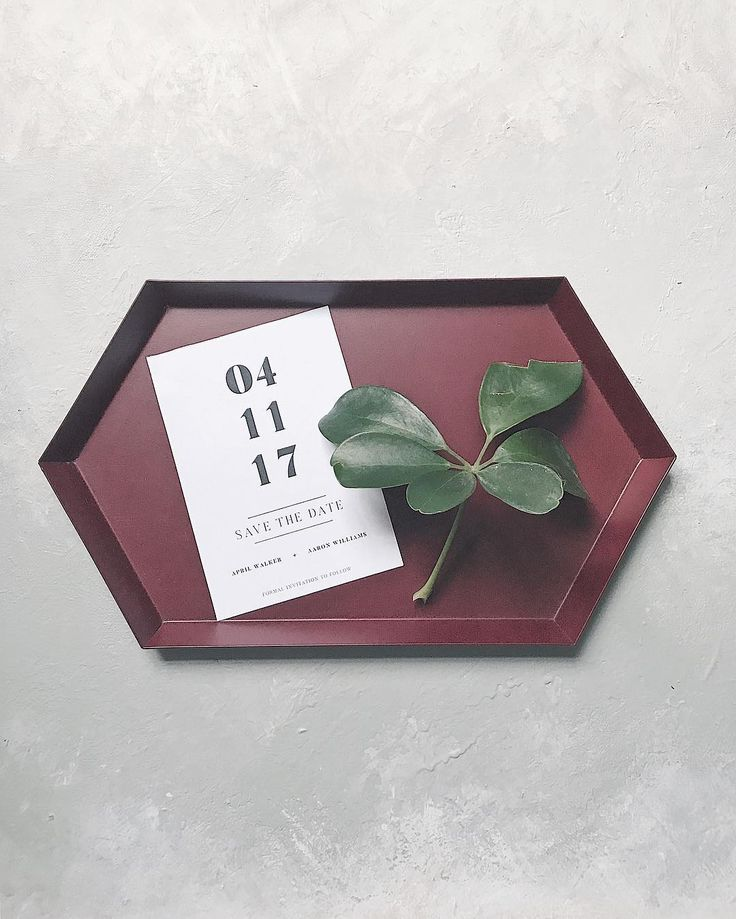 Bold save the date // minimalist, simple, font