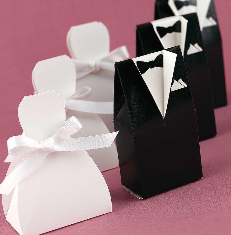 Novio y Novia: cajitas para recuerditos de bodas. Tutorial con plantillas. - Ideas y material gratis para fiestas y celebraciones Oh My Fiesta!