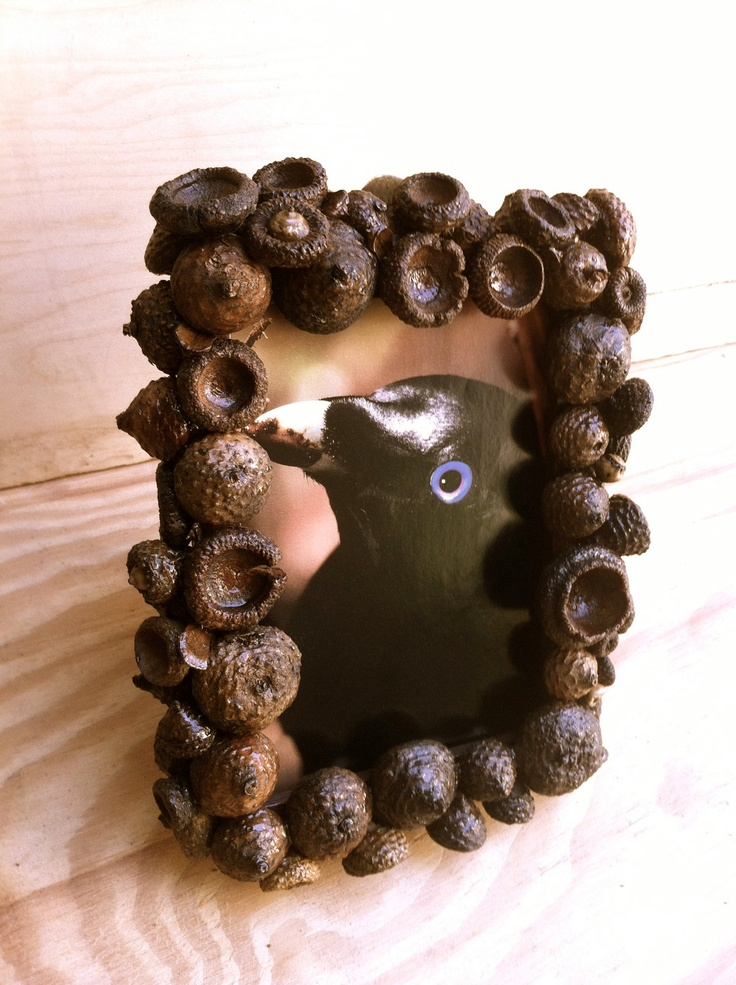 Rustic Photo Frame, Wedding Picture Frame, Home Decor, Pine Cone, Picture frames, Unique picture frame. $30.00, via Etsy.