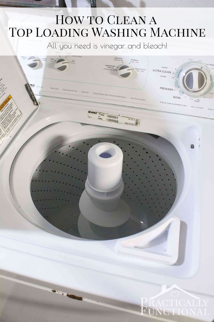 How to clean a washing machine with vinegar and bleach - Step by step instructions that really work!
