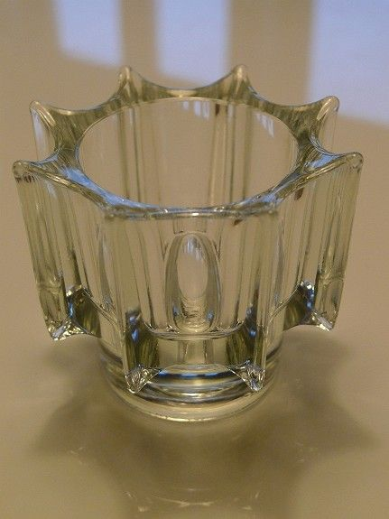 """FINN.no - Mulighetenes marked. Formgitt i 1969 av Rudolf Jurnikl - modellen kalles """"Iceberg"""" og ble produsert ved Rudolfova glasshytte. Sklo Union. 7.7cm høy, 9,3 cm bred"""