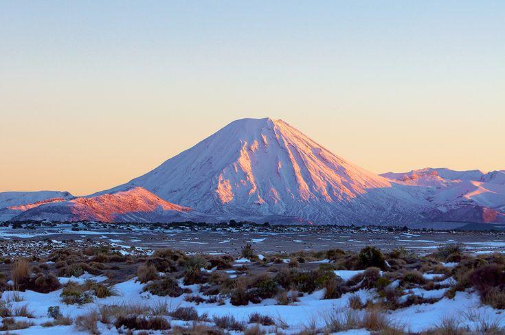 Mt Ngauruhoe early morning glow