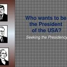 This is a PowerPoint which lists the qualifications and brief process of becoming president which includes campaigning, the electoral college, and ...