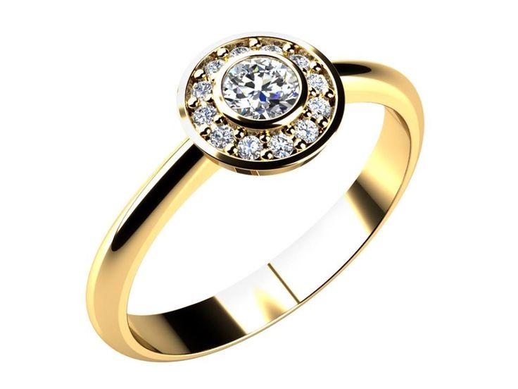 Tento kouzelný prstýnek s kruhovou hladkou obrubou je symbolem lásky, která, stejně jako samotný kruh, nikdy nekončí.
