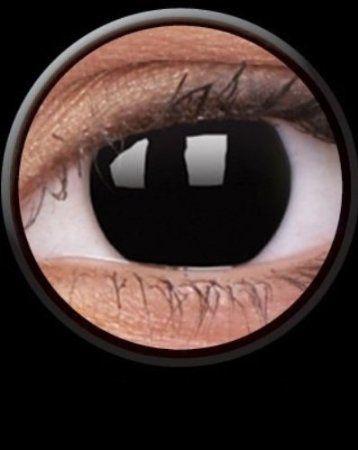 Tageslinsen One Day DARK SIDE Kontaktlinsen schwarz dämon vampire halloween kostüme