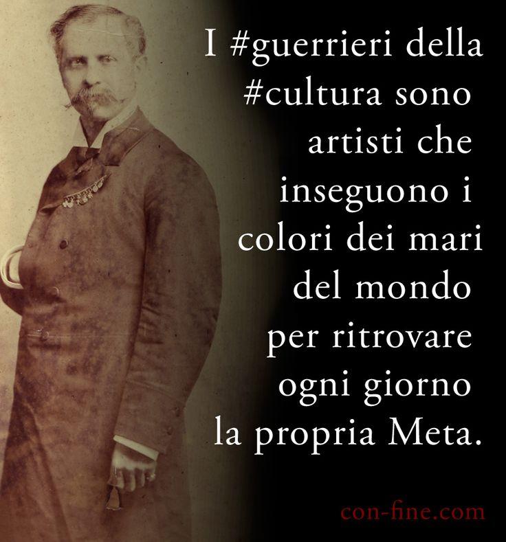 I #guerrieri della #cultura sono artisti che inseguono i colori dei mari del mondo per ritrovare ogni giorno la propria #Meta