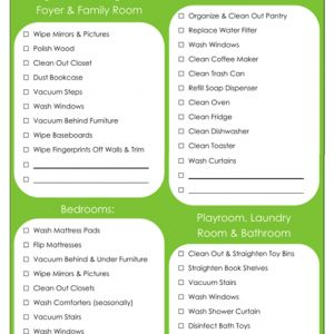 31 Days of Home Management Binder Printables: Day #5 Monthly Zones Chore Schedule