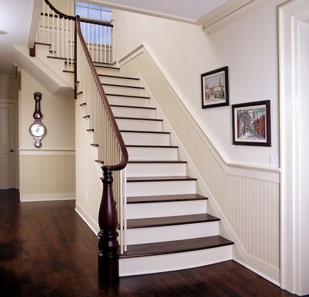 hallway and stair beadboard | Below chair rails and just a ...