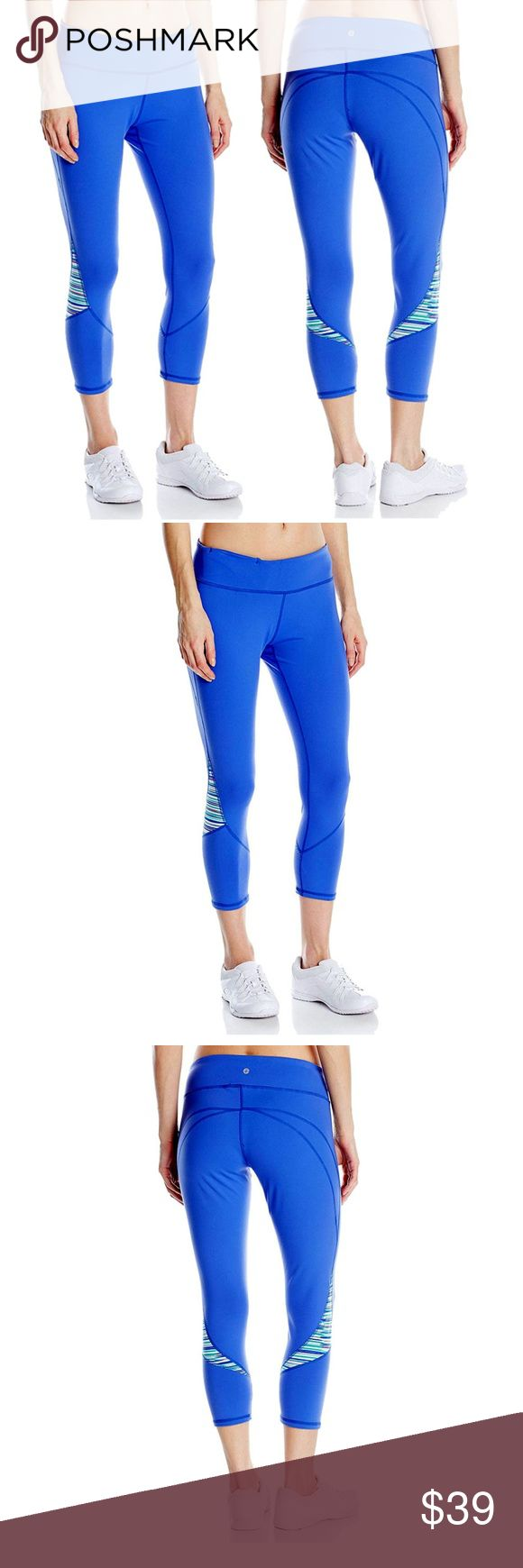 Soybu  Women's Sylvie Gym Workout Capri Leggings ✔Performance wear ready, the Sylvie Capri's Power-FLEX contours in all the right places.  ✔Features: Soft material that won't irritate skin, Wrinkle Resistant, Quick Dry & Stretch, Moisture Wicking & Breathable  ✔Material: 87% Nylon / 13% Spandex and 44% Recycled Polyester/44% Virgin Polyester/12% Spandex  ✔Size: XL (please see photos for waist, knee, hem, hips and thigh circumference and other measurements)  ✔Color: Greek Isle/Blue…