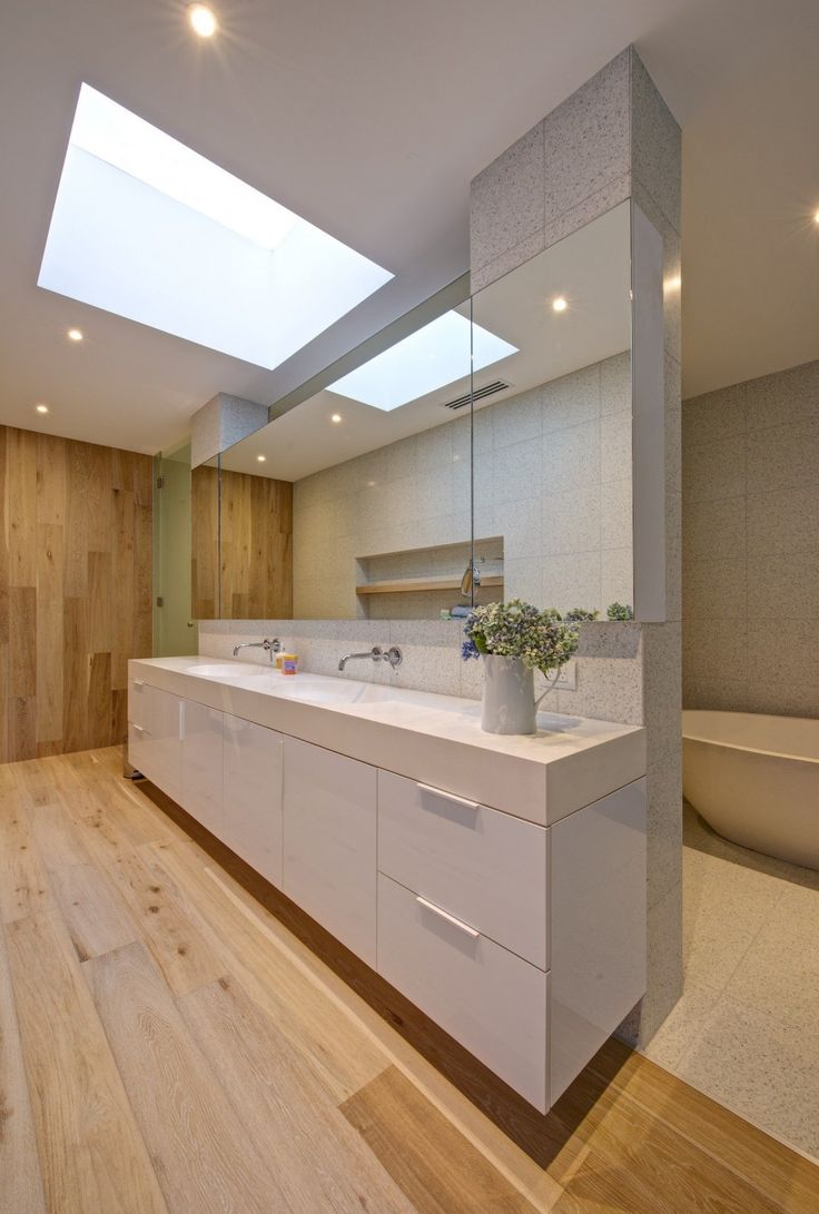 Amazing Contemporary Design in The Brighton Escape Project: Clean The Washing Place In Brighton House With Wooden Design Of Floor And Many O...