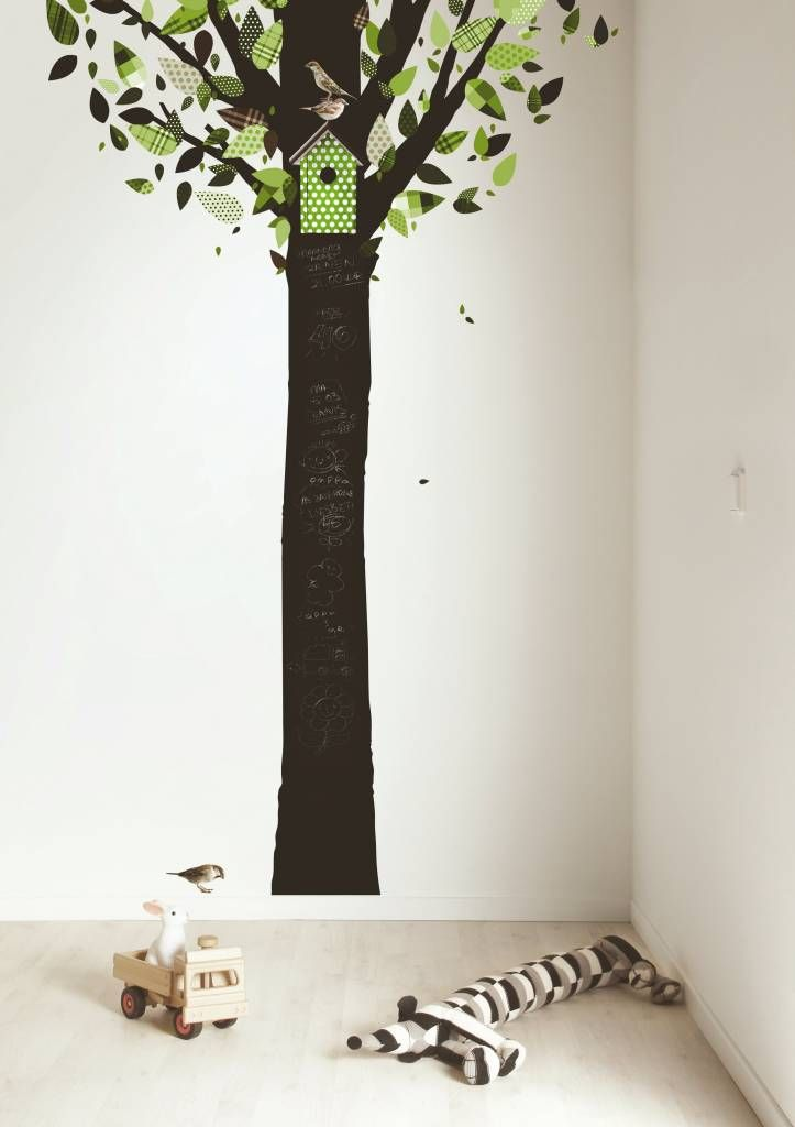KEK Amsterdam Schoolbord Sticker Tree Green 185x260 cm