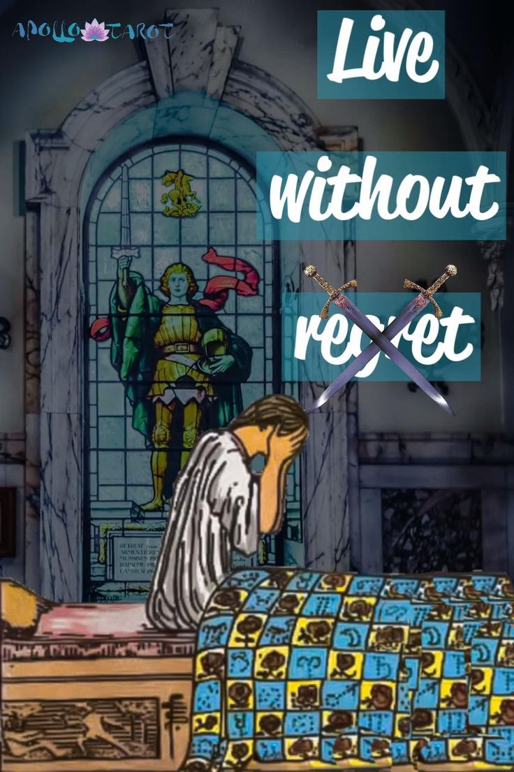 No Regrets: Nine of Swords Tarot Card | Apollo Tarot