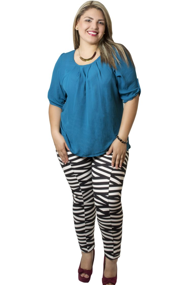 Leggins blanco y negro. Plus size.