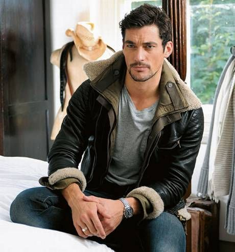 David Gandy's favourite leather jacket - Love the casual style. Where can I find this?